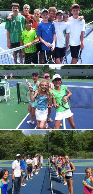 youth tennis at lakeside field club